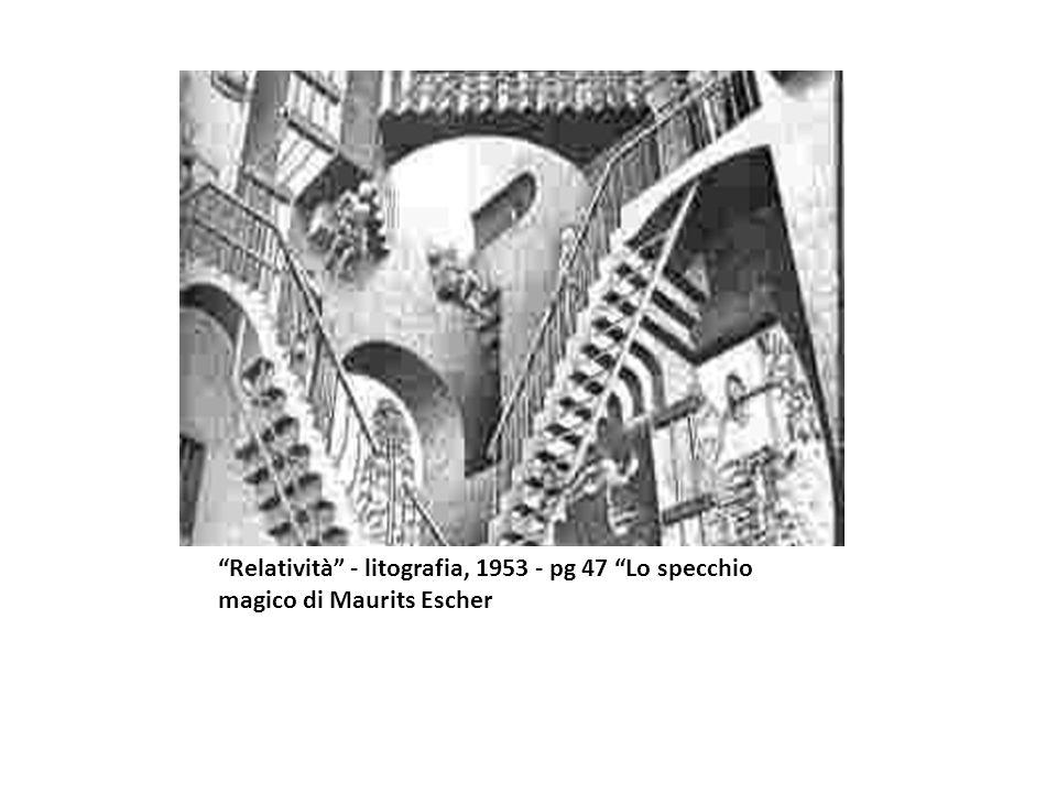 Relatività - litografia, 1953 - pg 47 Lo specchio magico di Maurits Escher
