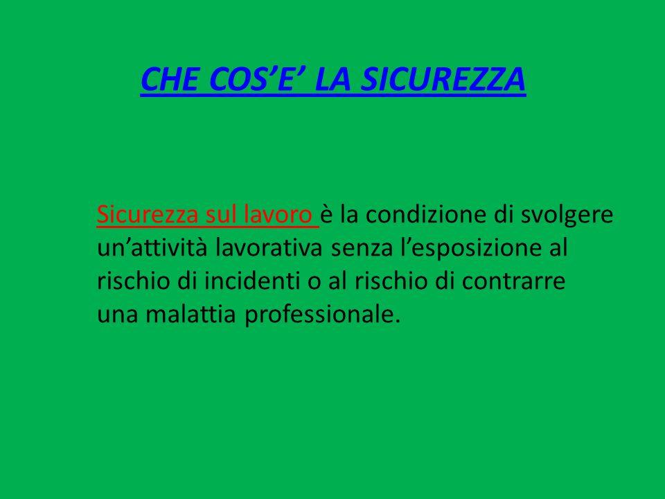 I PROTAGONISTI DELLA SICUREZZA DATORE DI LAVORO (garante strutturale della sicurezza) il soggetto titolare del rapporto di lavoro con il lavoratore o, comunque, il soggetto il tipo e l'organizzazione dell'impresa, ha la responsabilità dell'impresa stessa.