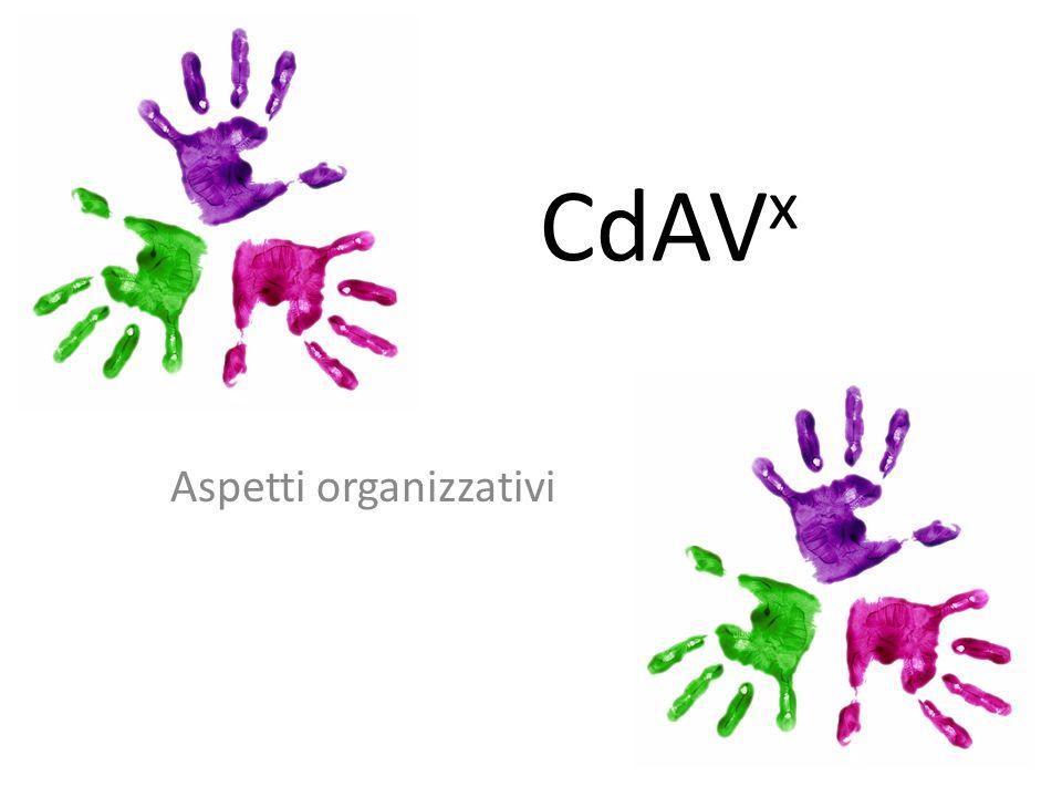 CdAV x Aspetti organizzativi
