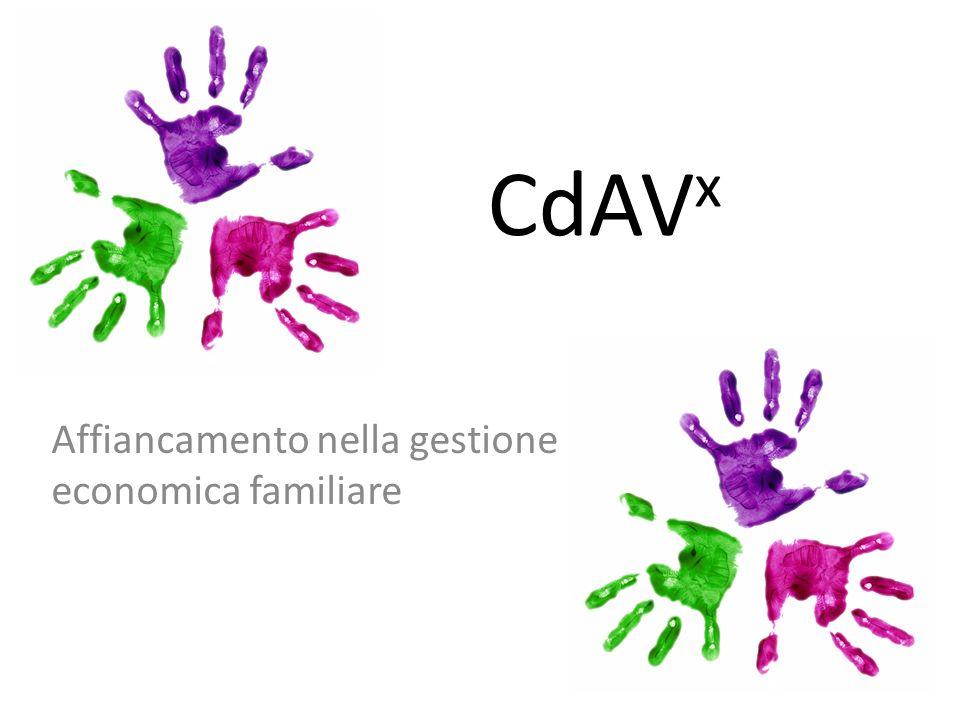 CdAV x Affiancamento nella gestione economica familiare