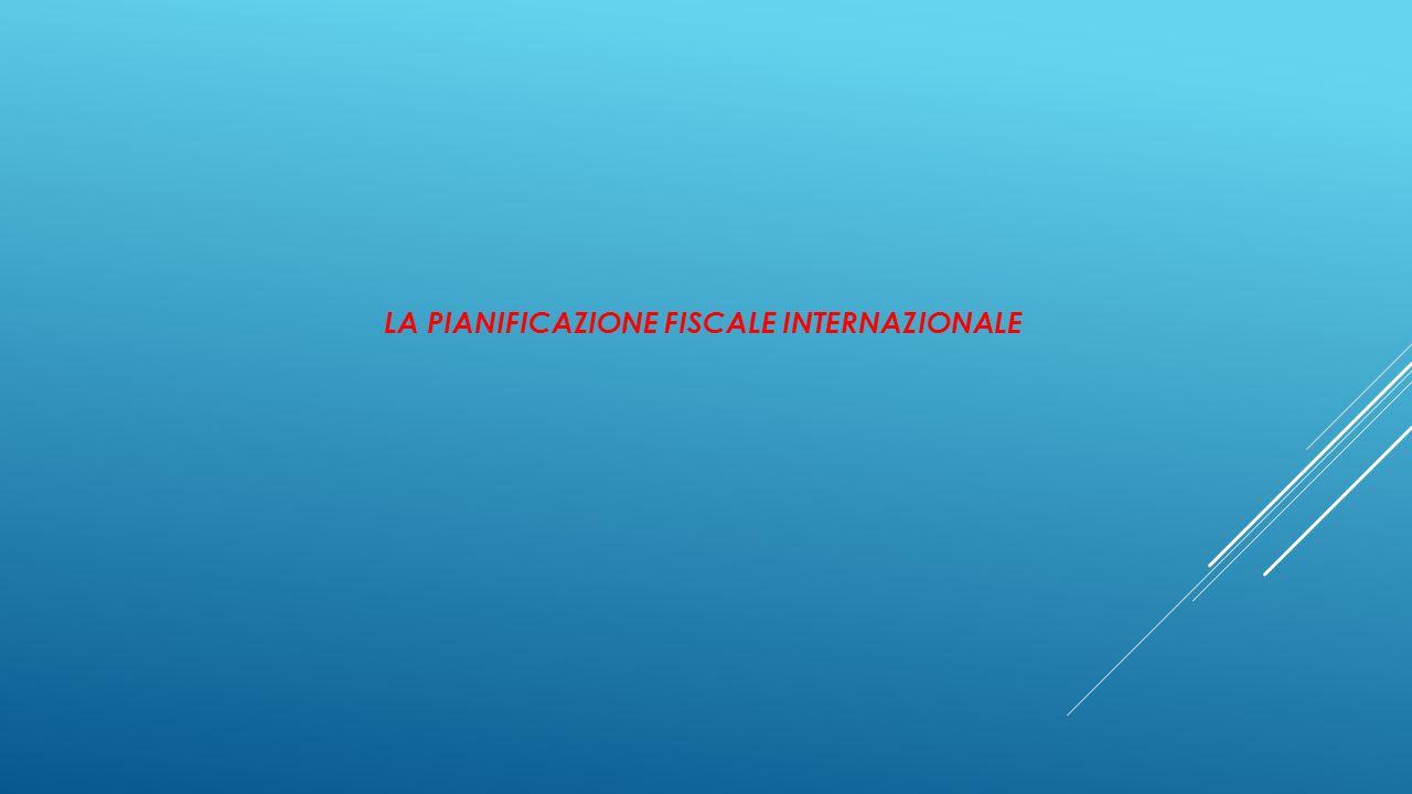 LA PIANIFICAZIONE FISCALE INTERNAZIONALE