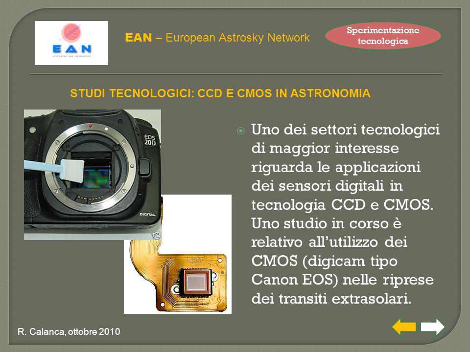  Uno dei settori tecnologici di maggior interesse riguarda le applicazioni dei sensori digitali in tecnologia CCD e CMOS.