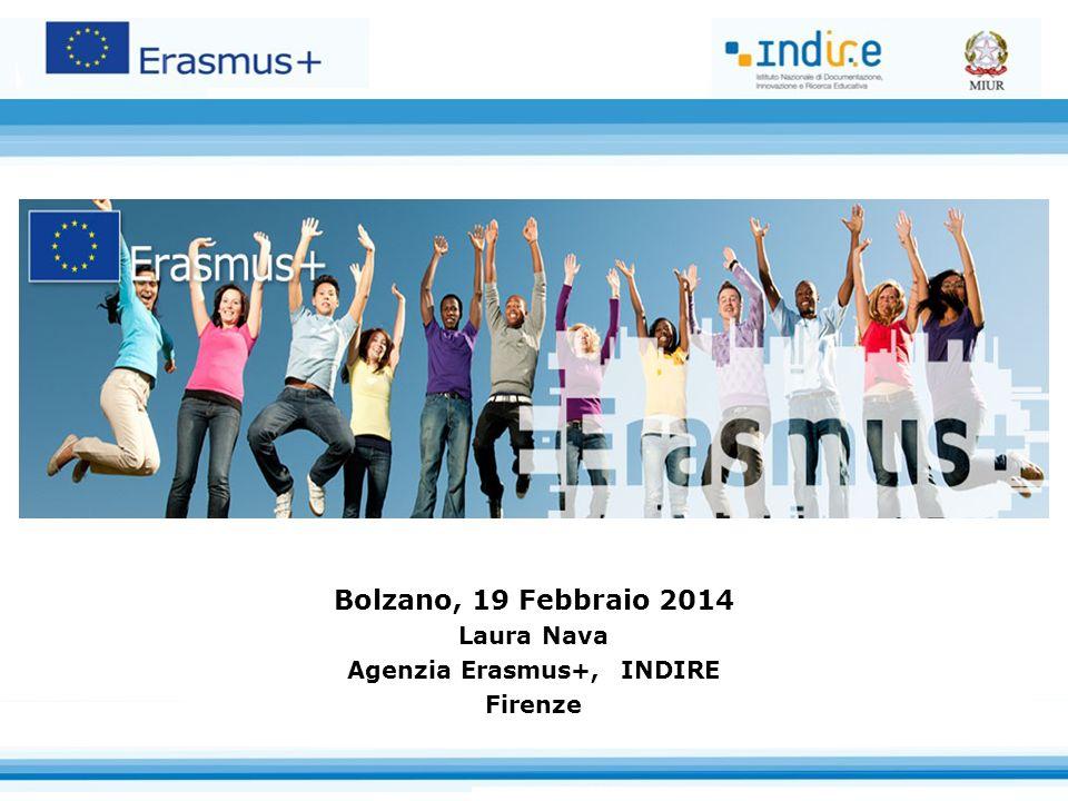 Bolzano, 19 Febbraio 2014 Laura Nava Agenzia Erasmus+, INDIRE Firenze