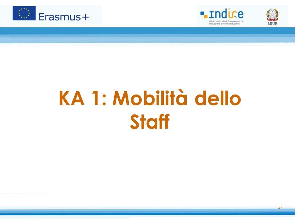 KA 1: Mobilità dello Staff 27