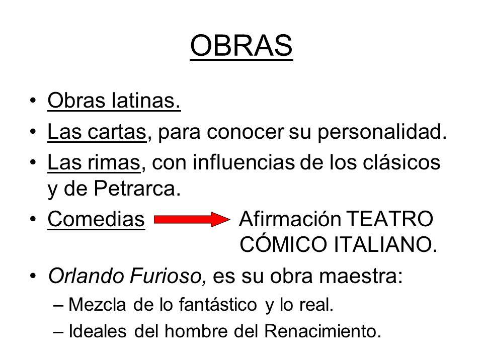 OBRAS Obras latinas. Las cartas, para conocer su personalidad.