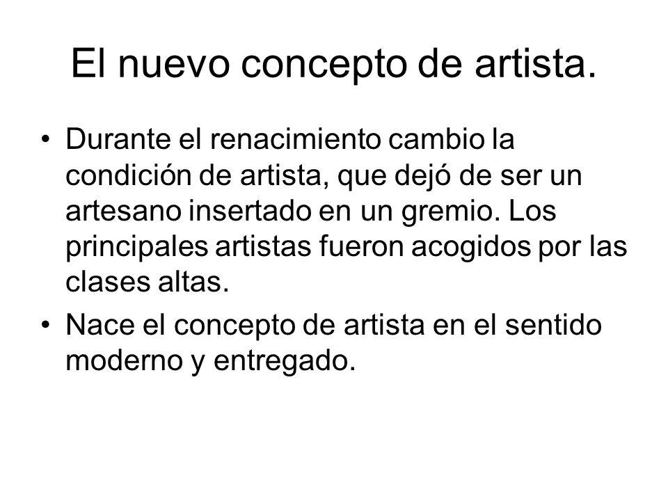 El nuevo concepto de artista.