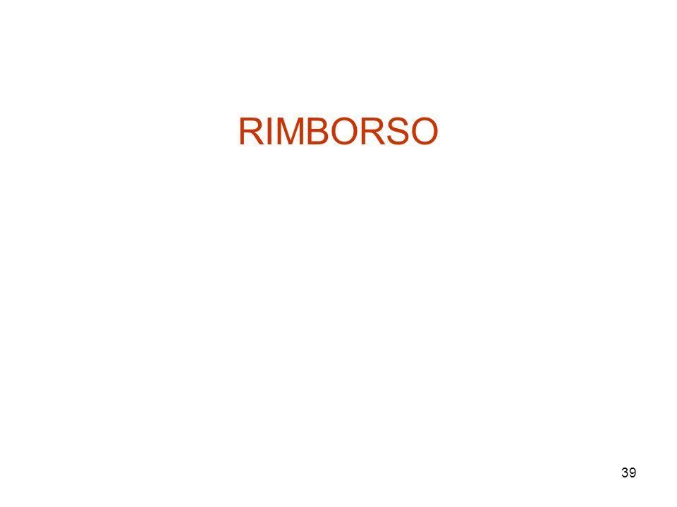 39 RIMBORSO