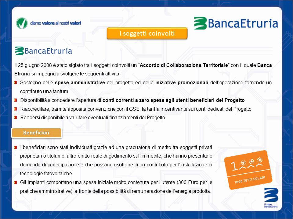 """Il 25 giugno 2008 è stato siglato tra i soggetti coinvolti un """"Accordo di Collaborazione Territoriale"""" con il quale Banca Etruria si impegna a svolger"""
