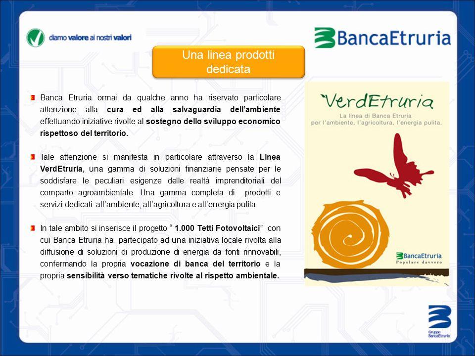 Banca Etruria ormai da qualche anno ha riservato particolare attenzione alla cura ed alla salvaguardia dell'ambiente effettuando iniziative rivolte al