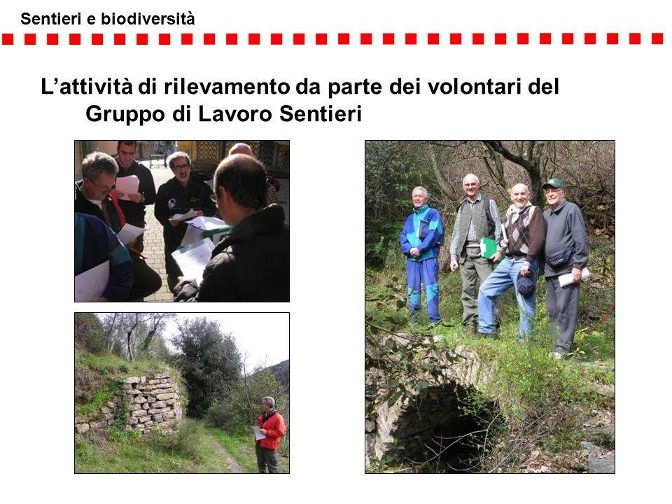 Sentieri e biodiversità L'attività di rilevamento da parte dei volontari del Gruppo di Lavoro Sentieri