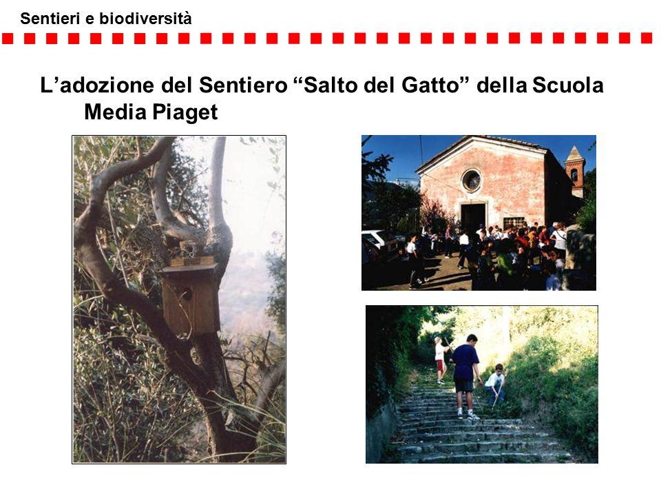 """Sentieri e biodiversità L'adozione del Sentiero """"Salto del Gatto"""" della Scuola Media Piaget"""