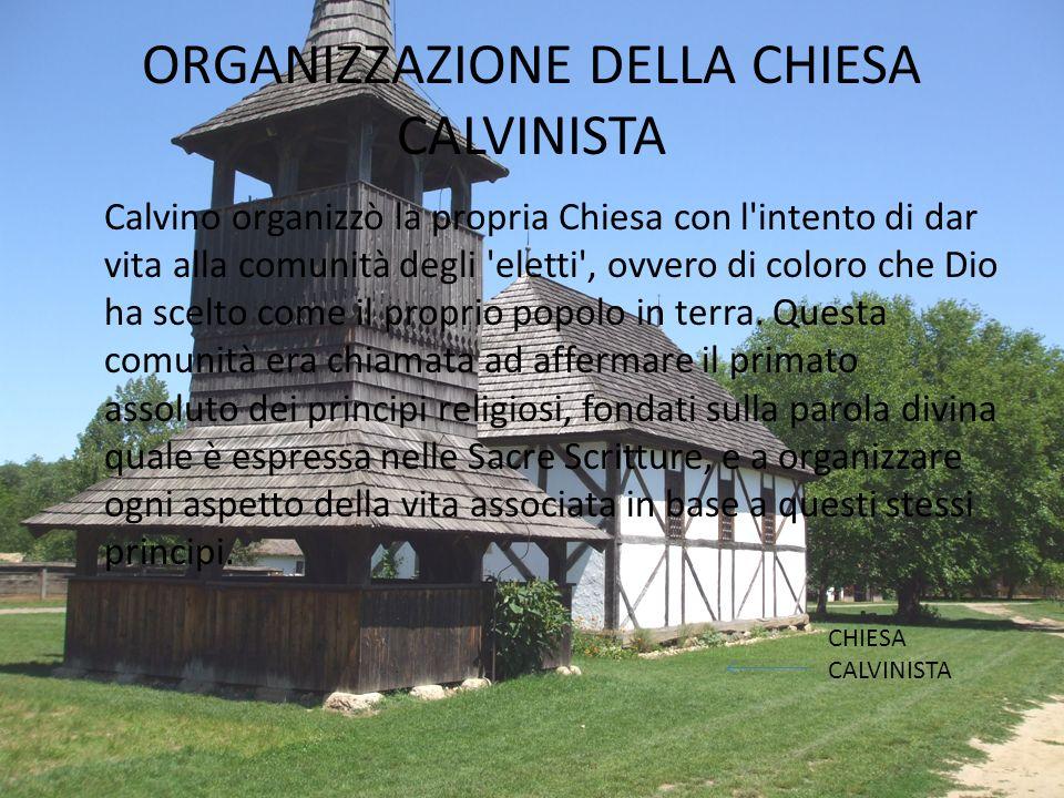 Più avanti il Calvinismo si diffuse anche nelle -Colonie Inglesi d'America -AFRICA del sud -ASIA -ITALIA dove prende il nome di Chiesa valdese -In par
