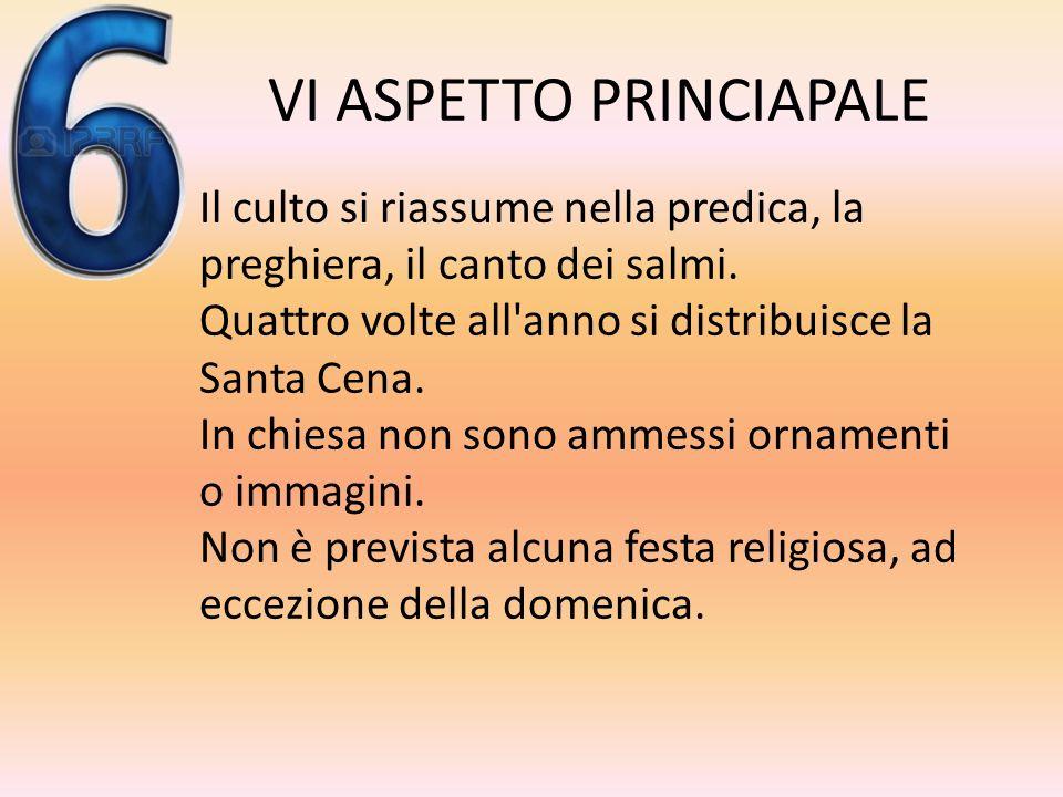 V ASPETTO PRINCIPALE Esistono solo quattro uffici religiosi (non esiste una gerarchia ecclesiastica basata sul sacramento dell'ordine): -I pastori (ch