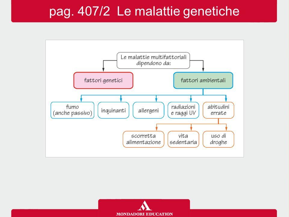 pag. 407/2 Le malattie genetiche