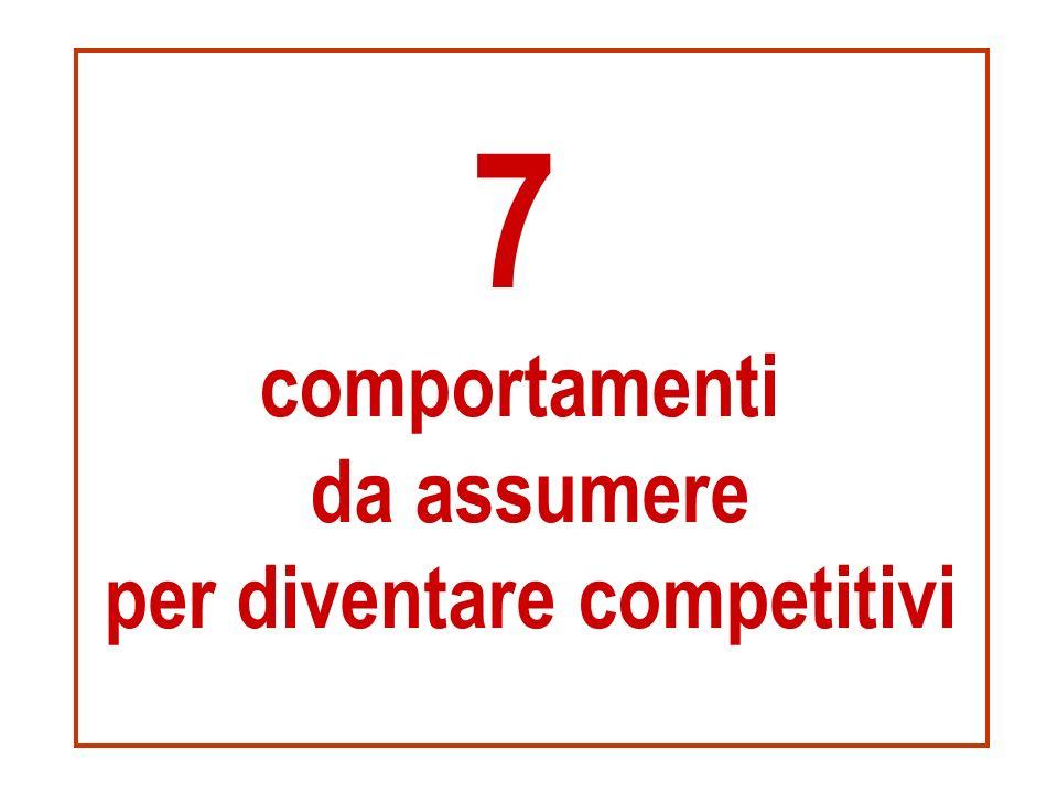 7 comportamenti da assumere per diventare competitivi