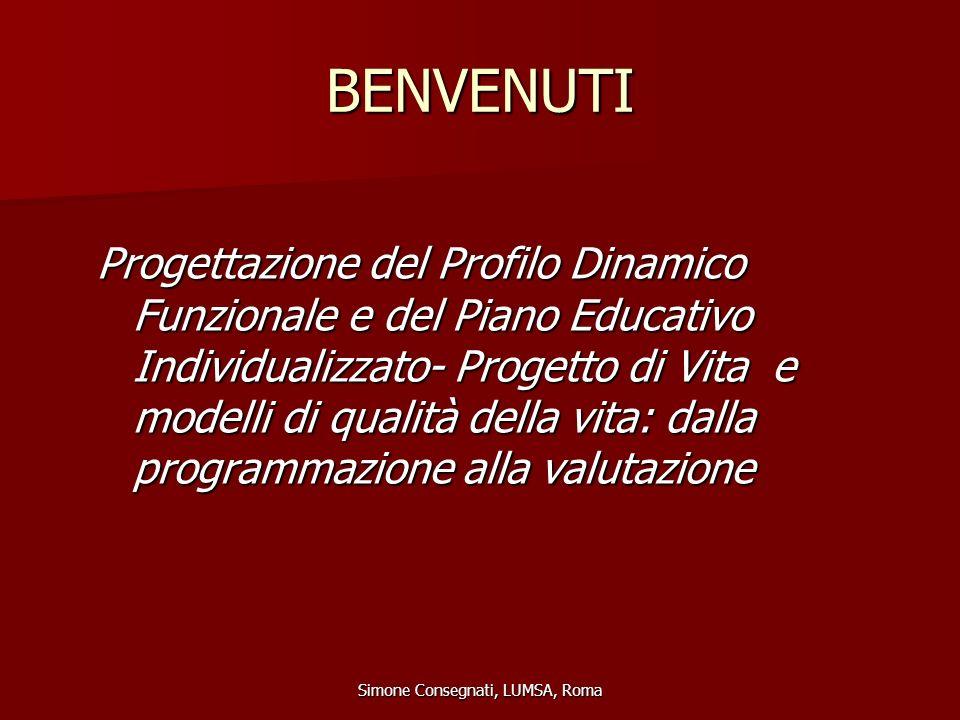 ICIDH DEFICIT (MENOMAZIONE) DISABILITA' HANDICAP Simone Consegnati, LUMSA, Roma