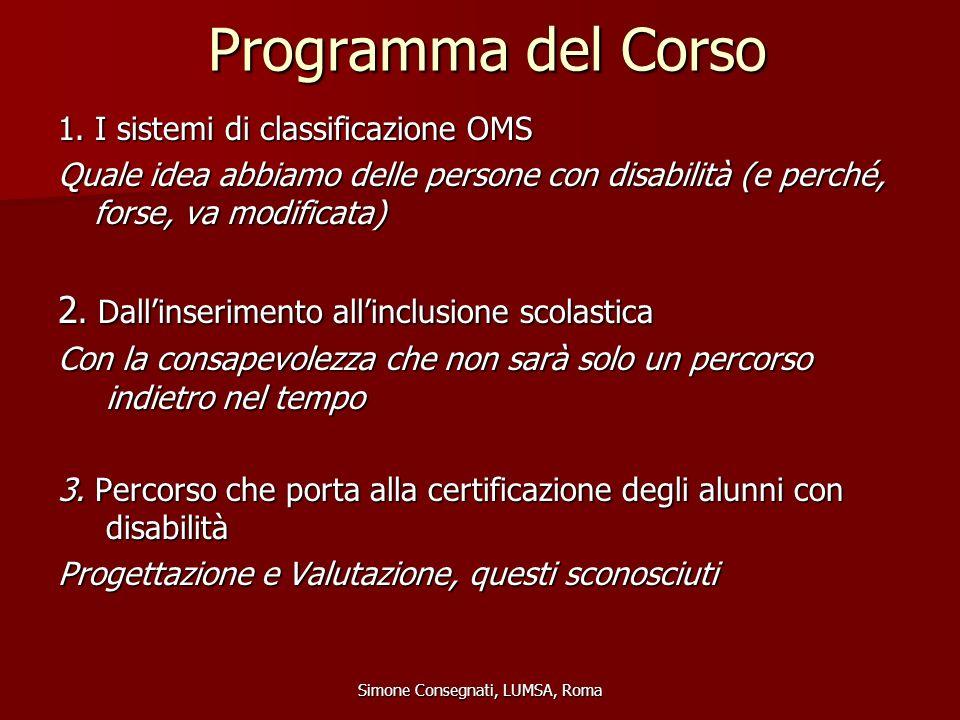 Programma del Corso 4.