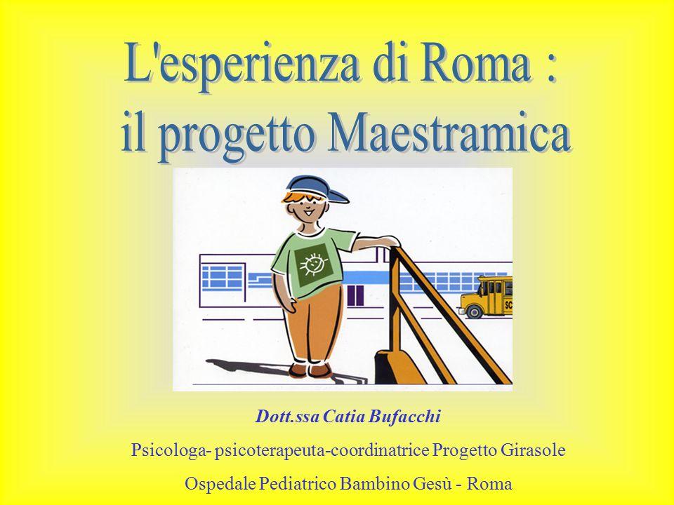 Dott.ssa Catia Bufacchi Psicologa- psicoterapeuta-coordinatrice Progetto Girasole Ospedale Pediatrico Bambino Gesù - Roma