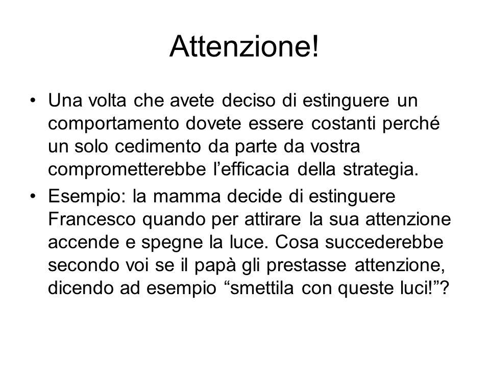 Attenzione.
