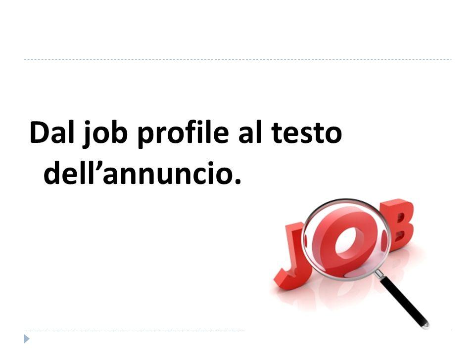 Dal job profile al testo dell'annuncio.
