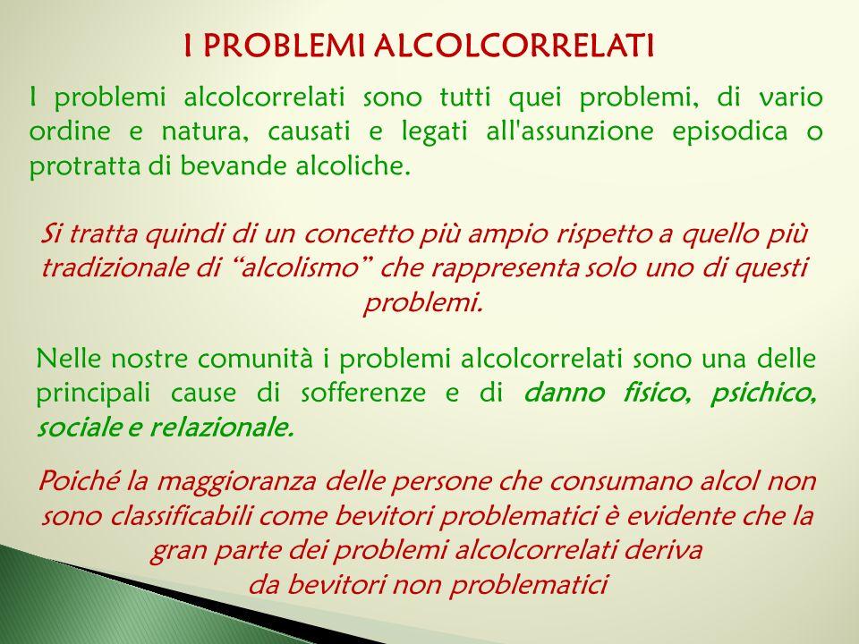 Nelle nostre comunità i problemi alcolcorrelati sono una delle principali cause di sofferenze e di danno fisico, psichico, sociale e relazionale. Poic