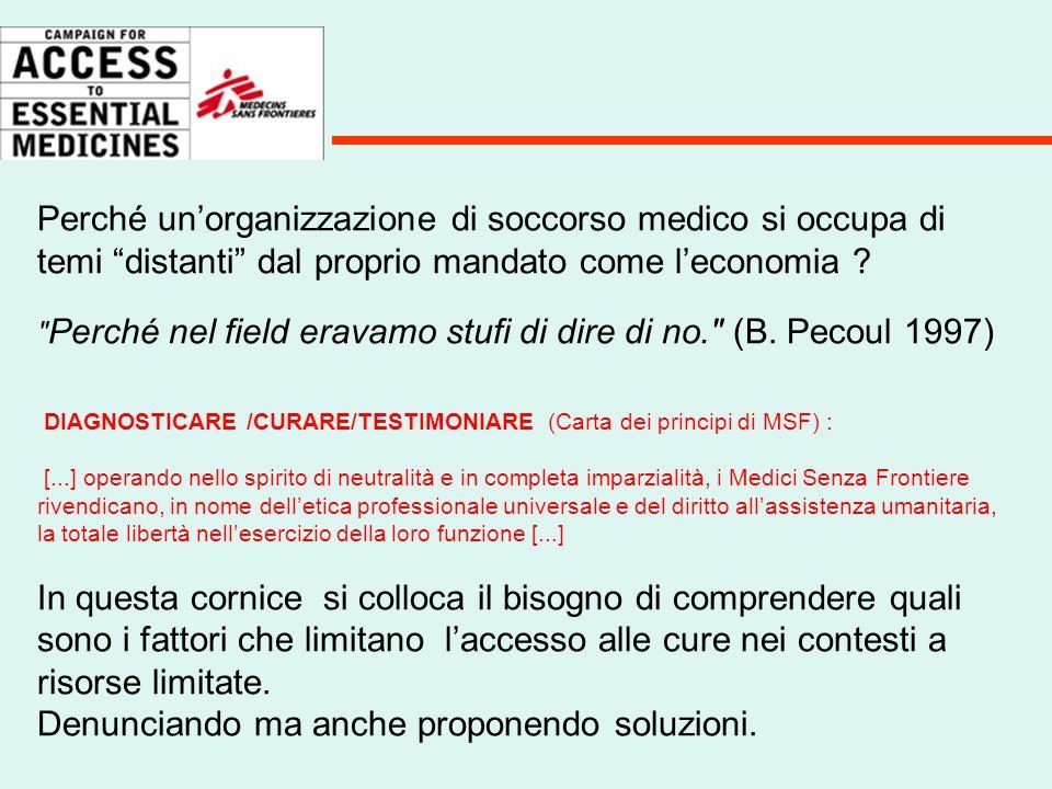 Nel 25° anniversario della fondazione nel 1996, MSF organizza un convegno Come migliorare la risposta alle epidemie ? Il problema dell'accesso ai farmaci comincia ad avere un ruolo centrale nella strategia dell'organizzazione