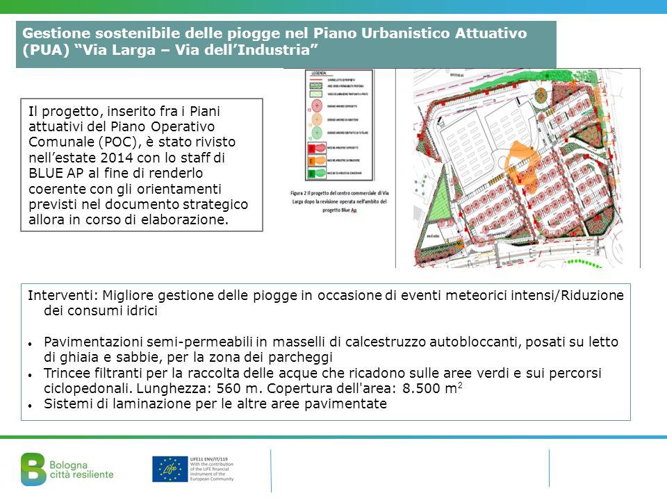 Interventi: Migliore gestione delle piogge in occasione di eventi meteorici intensi/Riduzione dei consumi idrici Pavimentazioni semi-permeabili in mas