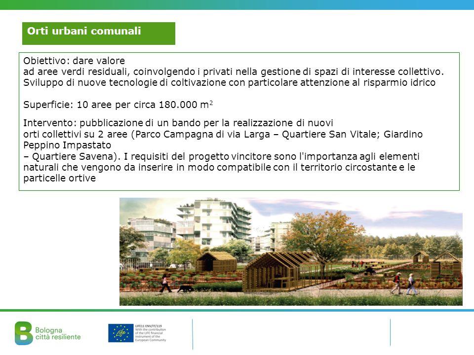 Orti urbani comunali Obiettivo: dare valore ad aree verdi residuali, coinvolgendo i privati nella gestione di spazi di interesse collettivo. Sviluppo