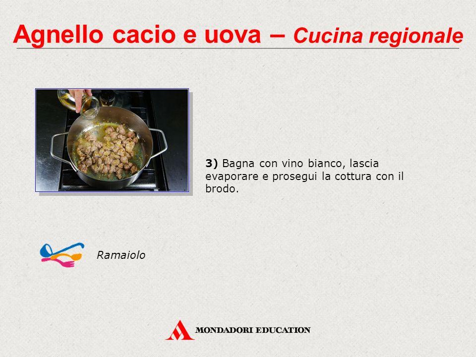 Agnello cacio e uova – Cucina regionale 4) A cottura ultimata, aggiungi le uova battute con il succo di limone, il pecorino grattugiato e il pepe.