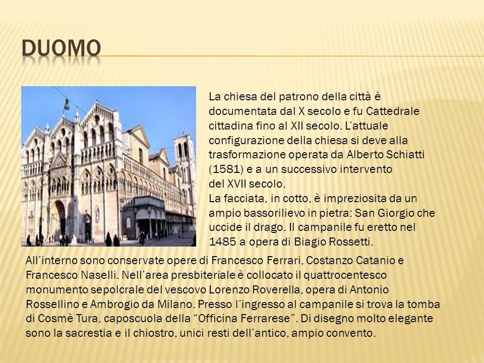 Quella operata da Corso Giovecca è una separazione caratteristica dei due nuclei cittadini, un distacco inconfondibile, ben diverso da quello delle altre città, ad esempio delle città emiliane tagliate dalla Via Emilia.