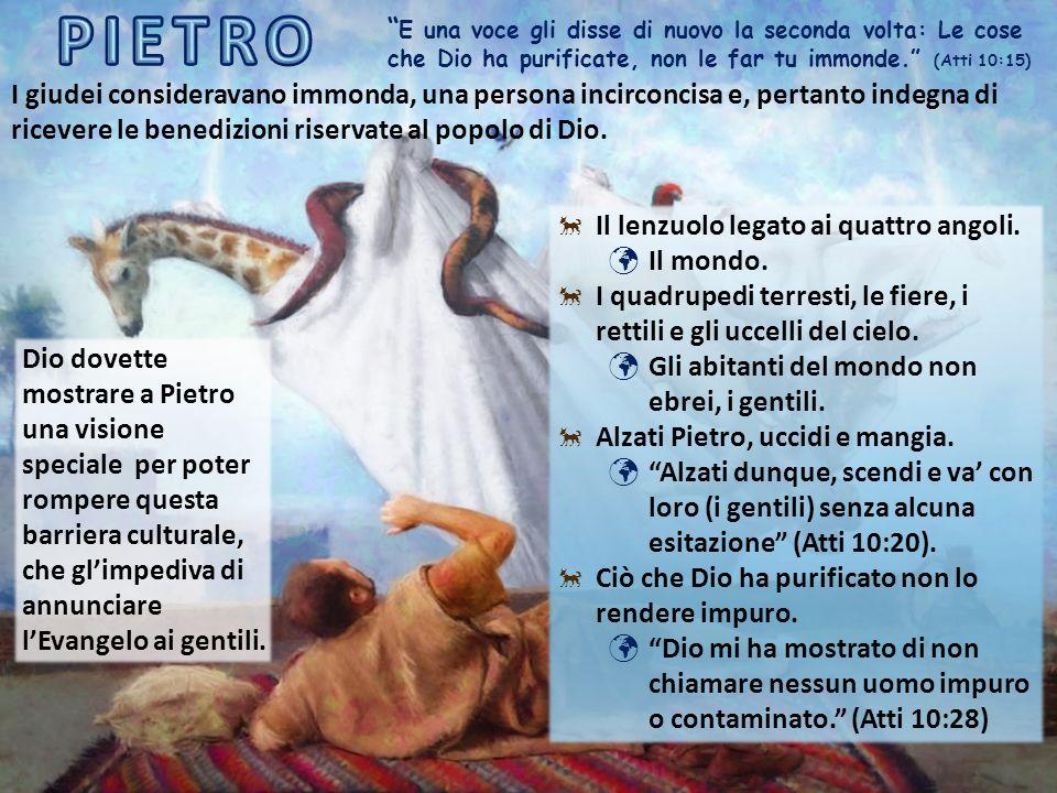 La storia di Pietro e Cornelio c'insegna che, benché tutte le persone siano accettate da Dio, è evidente che non tutte le religioni lo siano.