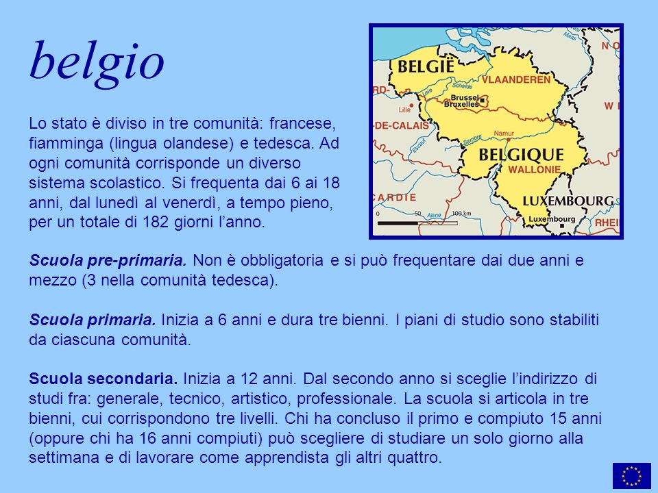 belgio Scuola pre-primaria.