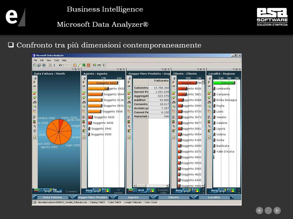 Microsoft Data Analyzer®  Confronto tra più dimensioni contemporaneamente Business Intelligence