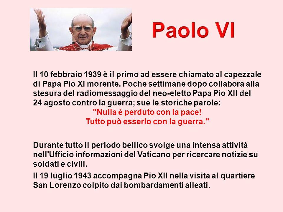 Il 10 febbraio 1939 è il primo ad essere chiamato al capezzale di Papa Pio XI morente.