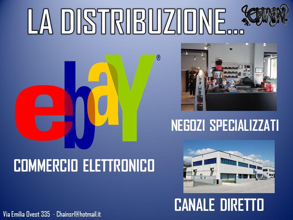 Via Emilia Ovest 335 - Chainsrl@hotmail.it COMMERCIO ELETTRONICO NEGOZI SPECIALIZZATI CANALE DIRETTO