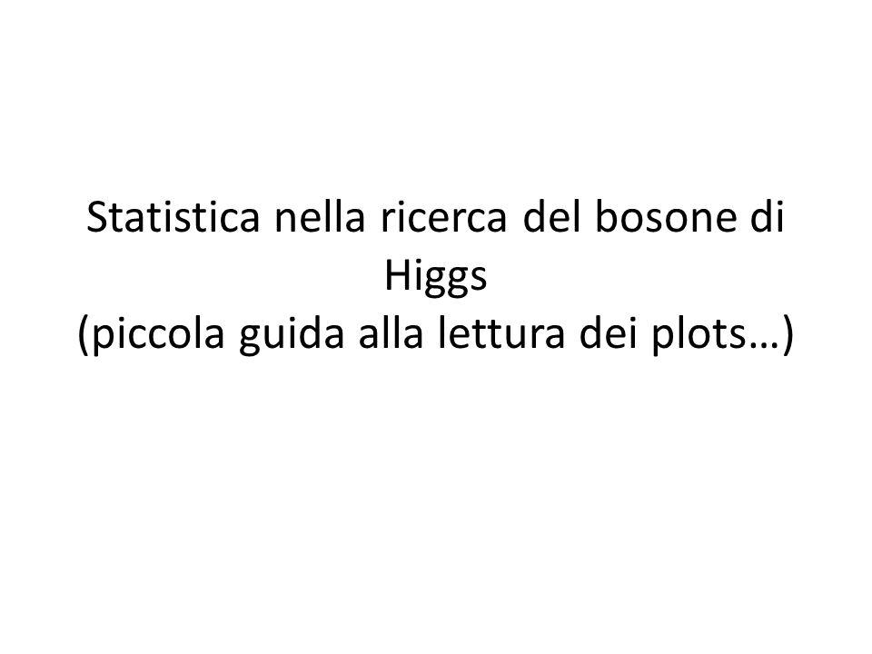Statistica nella ricerca del bosone di Higgs (piccola guida alla lettura dei plots…)