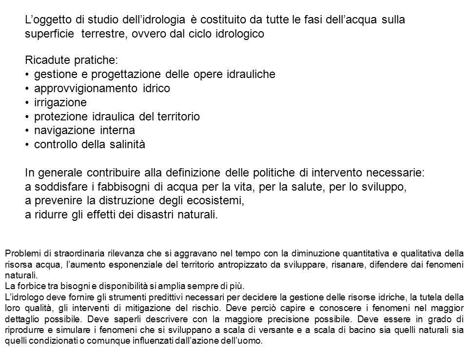 Il ciclo idrologico Leonardo da Vinci