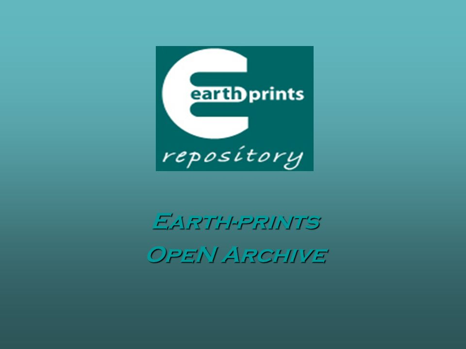 Earth-prints OpeN Archive