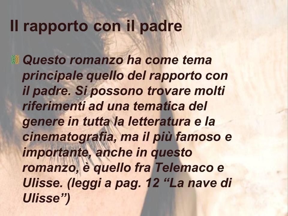 Il rapporto con il padre Questo romanzo ha come tema principale quello del rapporto con il padre.