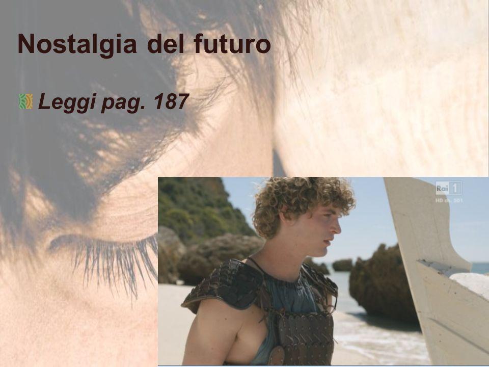 Nostalgia del futuro Leggi pag. 187