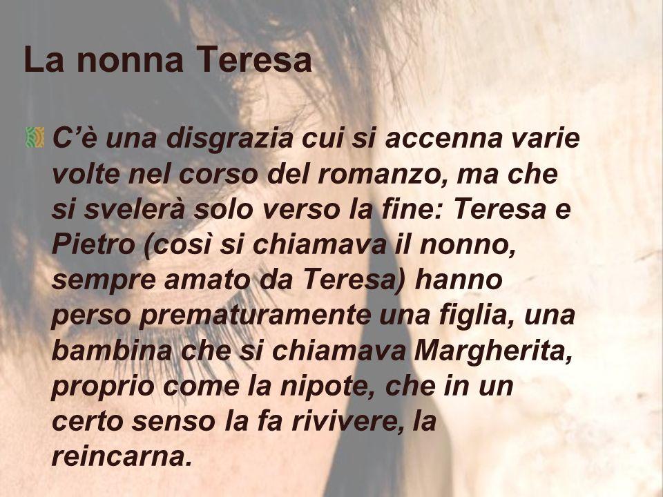 La nonna Teresa C'è una disgrazia cui si accenna varie volte nel corso del romanzo, ma che si svelerà solo verso la fine: Teresa e Pietro (così si chi