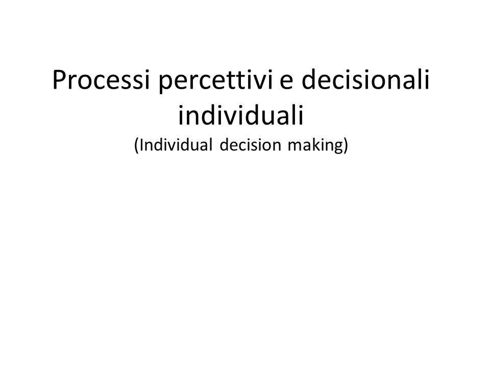 Il modello normativo di Simon Si basa sulla razionalità limitata del decisore: coloro che prendono le decisioni sono limitati o ostacolati da una serie di vincoli Indica che il processo decisionale è caratterizzato – da un'elaborazione limitata dell'informazione – dall'uso di euristiche euristica della disponibilità euristica della rappresentatività – dall'adozione di soluzioni soddisfacenti 11-4