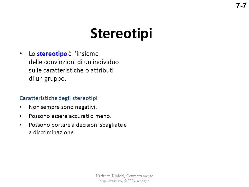 Stereotipi stereotipo Lo stereotipo è l'insieme delle convinzioni di un individuo sulle caratteristiche o attributi di un gruppo. Caratteristiche degl