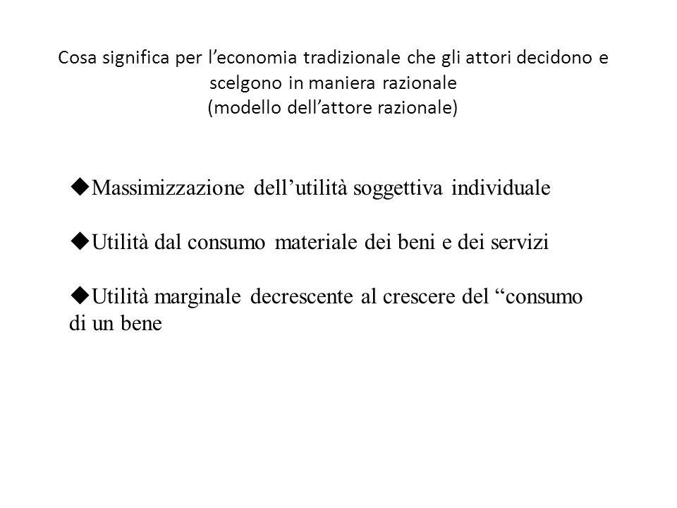 Assiomi della decisione razionale (se sono rispettati l'attore massimizza) Asimmetria.