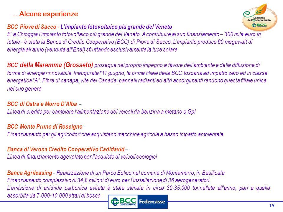 19 BCC Piove di Sacco - L'impianto fotovoltaico più grande del Veneto E' a Chioggia l'impianto fotovoltaico più grande del Veneto.