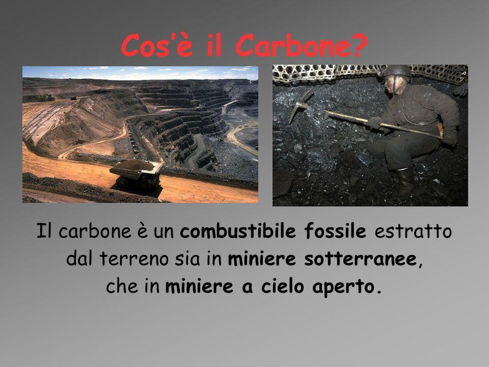 Cos'è il Carbone? Il carbone è un combustibile fossile estratto dal terreno sia in miniere sotterranee, che in miniere a cielo aperto.