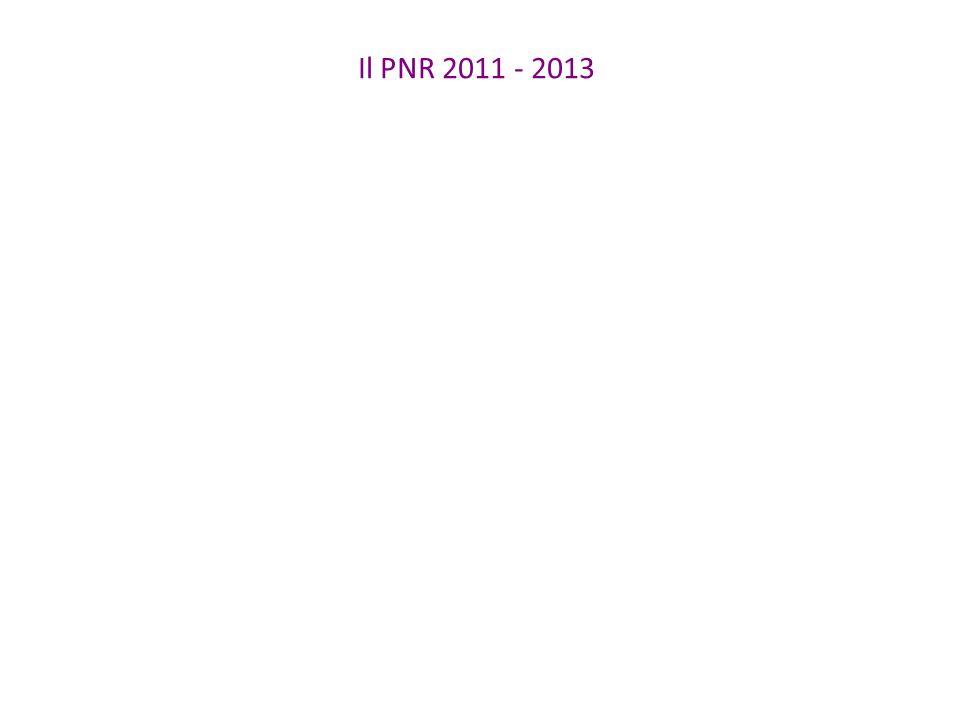 Il PNR 2011 - 2013