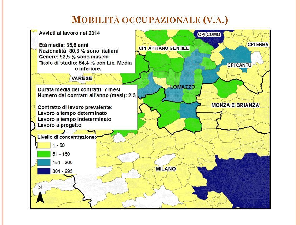M OBILITÀ OCCUPAZIONALE ( V. A.) 30