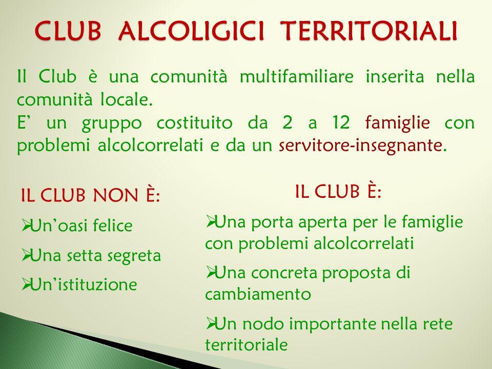 Il Club è una comunità multifamiliare inserita nella comunità locale. E' un gruppo costituito da 2 a 12 famiglie con problemi alcolcorrelati e da un s