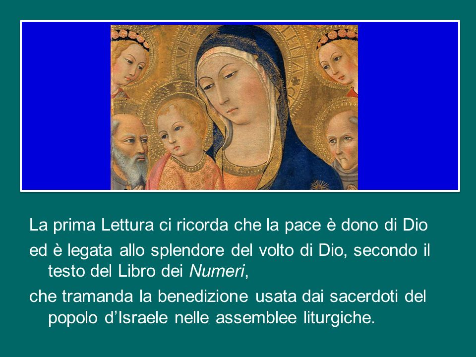 E questo segna una volta per sempre anche l'identità di Maria: lei è «la madre di Gesù», cioè la madre del Salvatore, del Cristo, del Signore. Gesù no